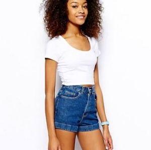 American Apparel Dark Wash Indigo Shorts Size 26